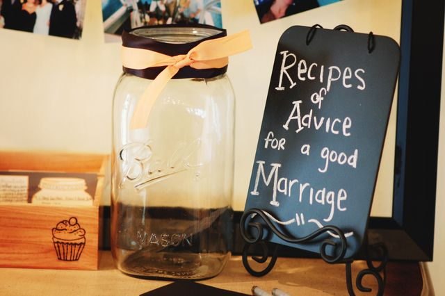 Give some advice at a rustic wedding!  See more party ideas at CatchMyParty.com!  #partyideas #wedding
