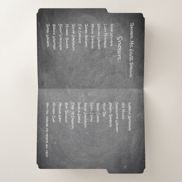 Class Students Teacher Blackboard Chalkboard Look File Folder