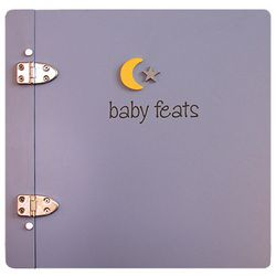"""Baby Feats Scrapbook Journal in Blue  I'd use this to ink Raiden's foot prints every year & possibly hand prints.  For the pun """"baby feats"""" like baby feets :DScrapbook Ideas, Baby Feat, Baby Scrapbook, Scrapbook Journals, Babyscrapbookideasclub Com, Baby Book, Buy Scrapbook, Jack Scrapbook, Feat Scrapbook"""