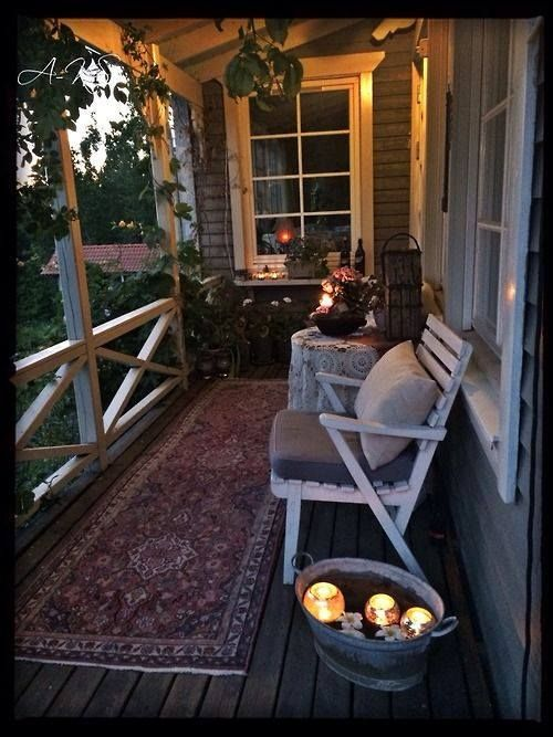 Come and sit, and have a glass of wine with me on the front porch, and we'll watch the sun set.  <3