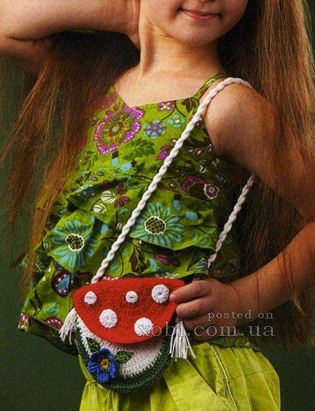 "сумочка для девочки ""мухомор"""