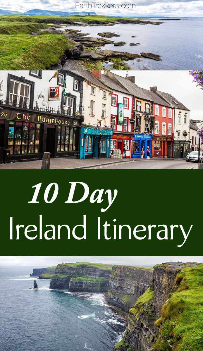 Ireland Itinerary: 10 day road trip in Ireland, visiting Dublin, Ring of Kerry, Skellig Michael, Dingle, Cliffs of Moher, Giants Causeway. #roadtriptips