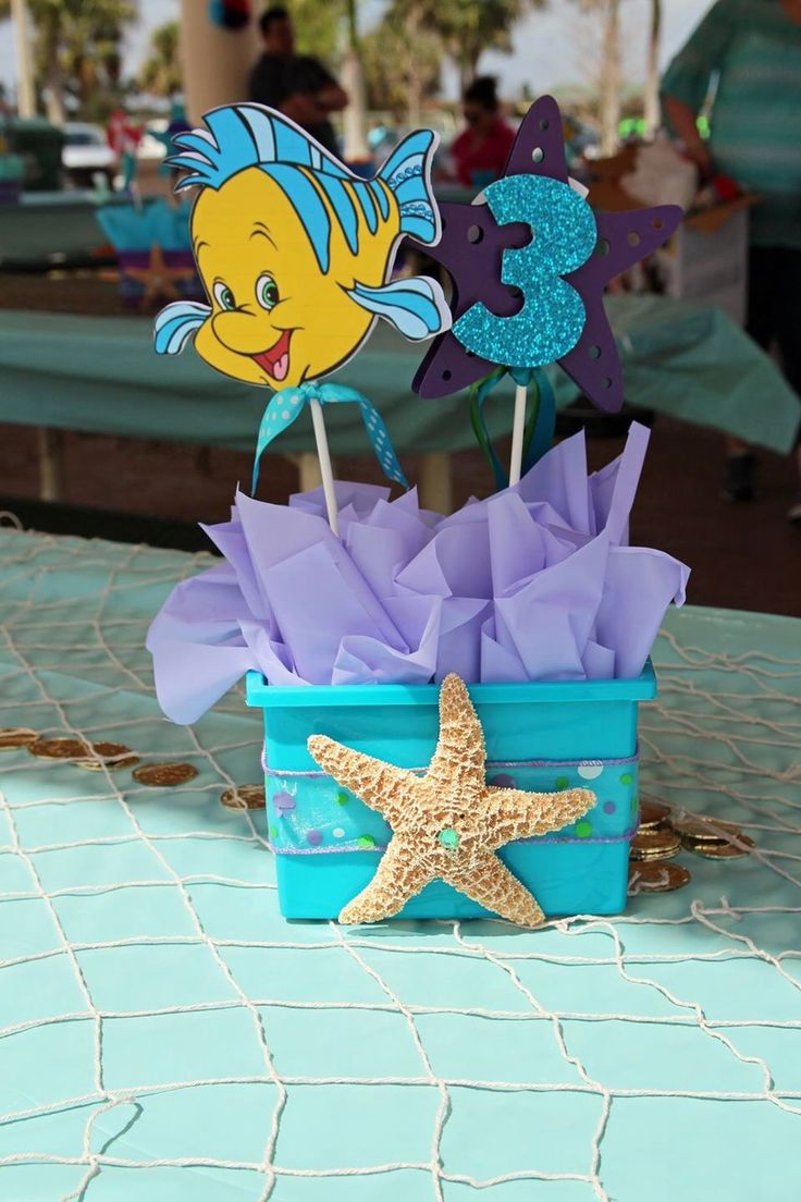 Best 25 little mermaid centerpieces ideas that you will for Ariel decoration party