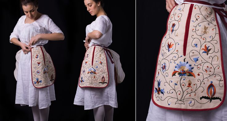 18th century embroidered pockets by medievaldesign.com