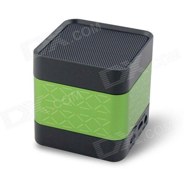 Alto Falantes Bluetooth 3.0 - Mini Speaker Portátil / Compativel com GPS, MP3, MP4, PS3, Tablet, PC, iPhone, iPod, iPad / Plug 3.5mm / Micro USB / Suporta cartãoMicroSD - Verde e Preto http://www.dx.com/pt/p/cky-bc136-portable-mini-bluetooth-v3-0-speaker-w-3-5mm-micro-usb-green-black-361791?Utm_rid=54009773&Utm_source=affiliate