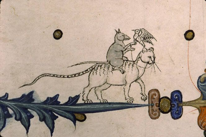 medieval manuscript oddity (source unknown)