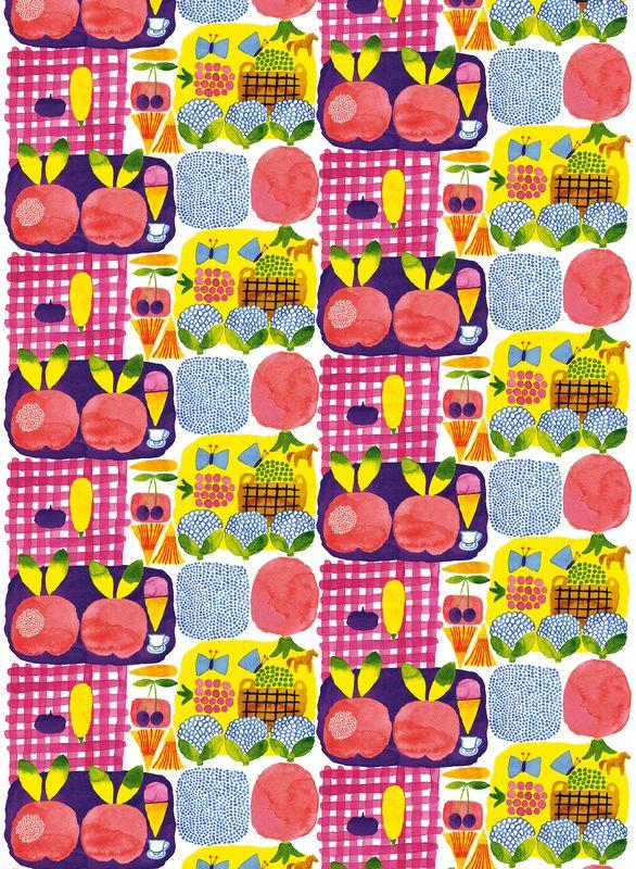 Kesätori fabric / Design by Aino-Maija Metsola for Marimekko #MarimekkoSS14 #Marimekko #MarimekkoSpring