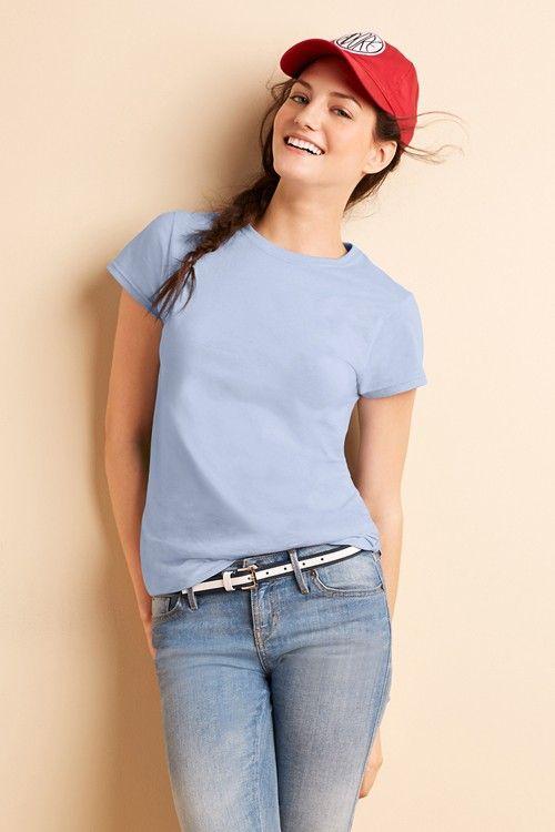 Tricou de damă Ring Spun 131.09 Gildan. Pret: incepand cu 7.5 RON. Trimite cerere de personalizare pentru Tricouri Gildan prin serigrafie, broderie, termotransfer…