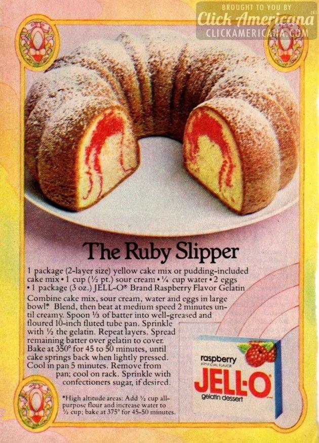 Raspberry gelatin cake recipe