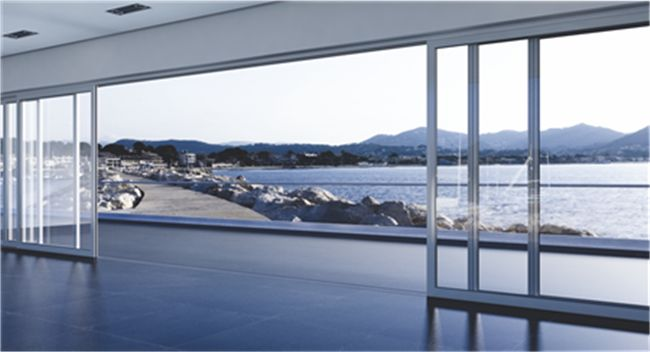 M12000 is a non thermal break system for sturdy, very high sliding doors, covering all kind of typologies, with the unique characteristic of a totally concealed in the floor stainless steel rail.  For further information visit us at http://www.alumil.com/en/products/doors-windows/sliding-systems/m12000/
