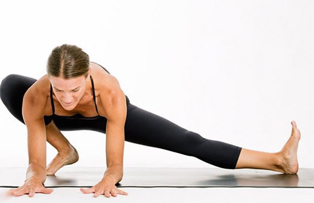 Crouching Tiger, hidden stretch? This stretch rotates your hips so you hit your deep hip muscle, the psoas.