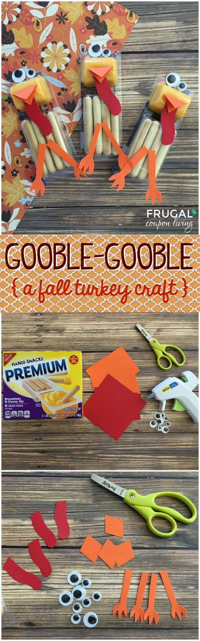 Fall Turkey Cheese Sticks - Fall and Thanksgiving Kids Food Craft on Frugal Coupon Living. These are excellent fall classroom ideas. #thanksgiving #turkey #cheesesticks