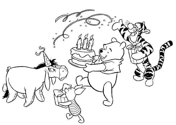 winnie the pooh color page disney coloring pages color plate coloring sheetprintable coloring picture - Pooh Bear Coloring Pages Birthday
