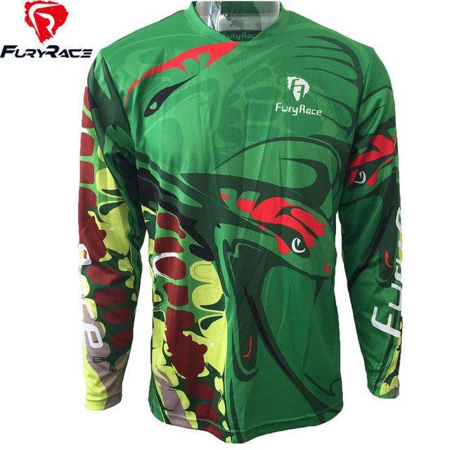 Fury Race Downhill Jerseys Men MTB Motocross Mountain Bike Cycling Jersey Motorcycle T Shirts DH Offroad BMX Bicycle Clothing