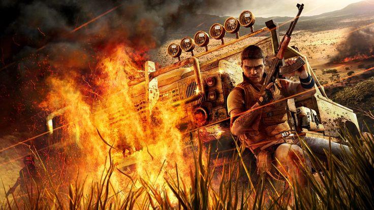 Impressive Far Cry Fire Car Machine Gun Grass Jack Carver Wallpaper « Kuff Games