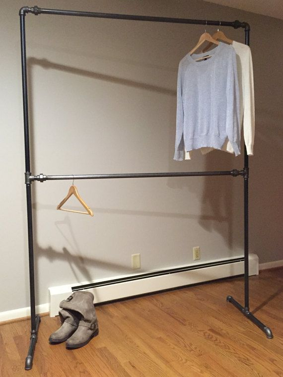 Industrial Style Free Standing Closet Wardrobe By LakesideLivingCo