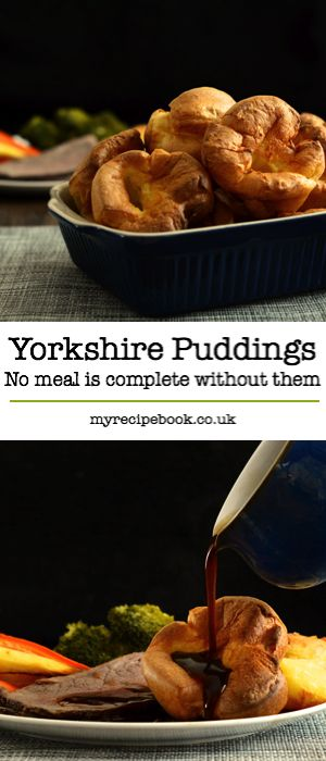 Just what your dinner has been missing… Delicious, crispy yorkshire puddings – easy to make and they turn out perfectly every time.