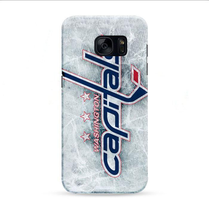Washington Capitals Ice Logo Samsung Galaxy S7 Edge 3D Case
