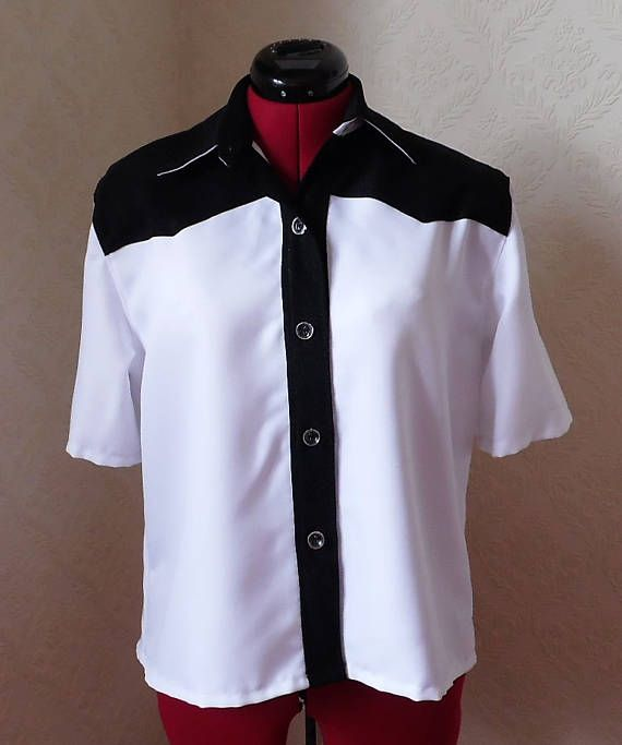 Womens Rockabilly Style Bowling Blouse Petite 38 Bust