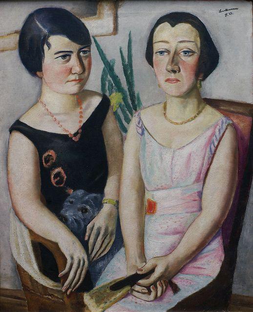 Max Beckmann (Leipzig 1884 - New York 1950), Doppelbildnis (1923) ~Via Carolyn Hastings
