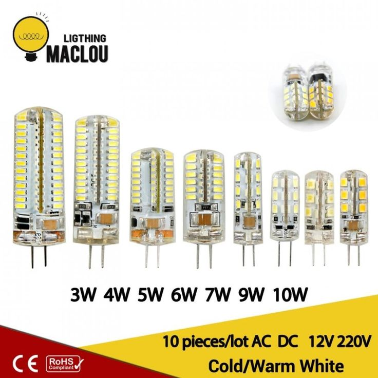10pcs Led 220v G4 Lamp G4 Led Bulb Light Ac Dc 12v 10w 6w Smd 2835 3014 Spotlight 360 Beam Angle Replace For Crystal Chandelier 9 9 Led Bulb G4 Led Light Bulb