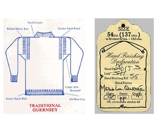 Le Tricoteur Guernsey Sweatercalled a Gansie in Scotland same design for fishermen to keep warm.