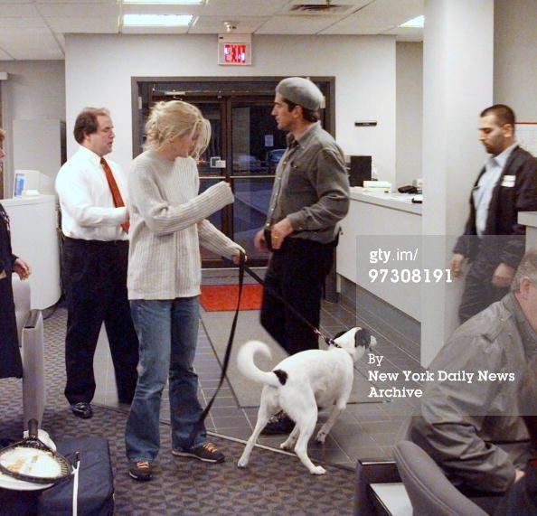 John Kennedy Jr. Wedding | John Kennedy Jr And Wife Carolyn Bessette Kennedy With Dog… News ...