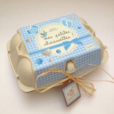 Boîte oeufs chaussettes love -  - Vous avez fabriqué un cadeau de naissance ? Montrez-le nous !
