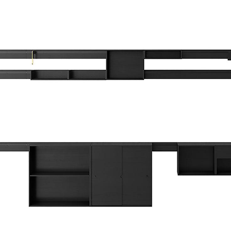 Il Kilometre Joe Colombo Karakter danish designer wood shelving unit