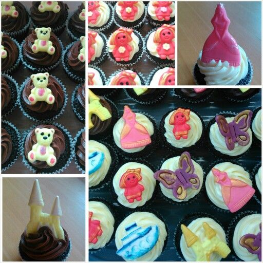 Bday party cupcakes for little girl