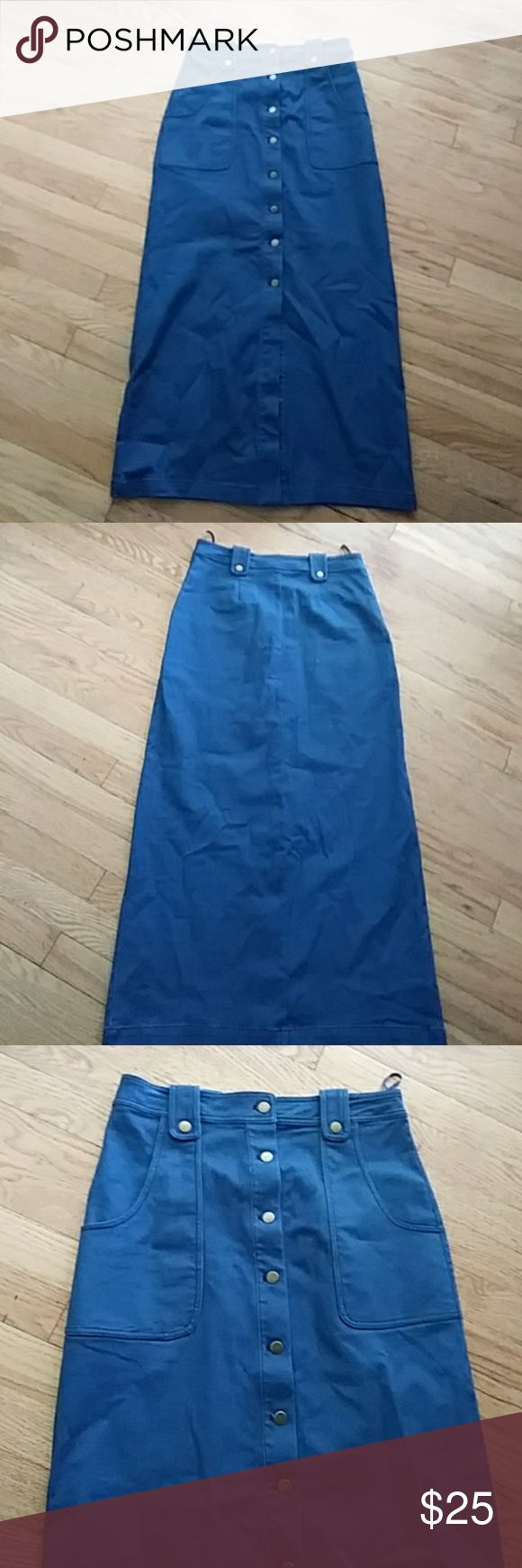 Ladies denim skirt Button up denim maxi skirt cotton candy Skirts Maxi