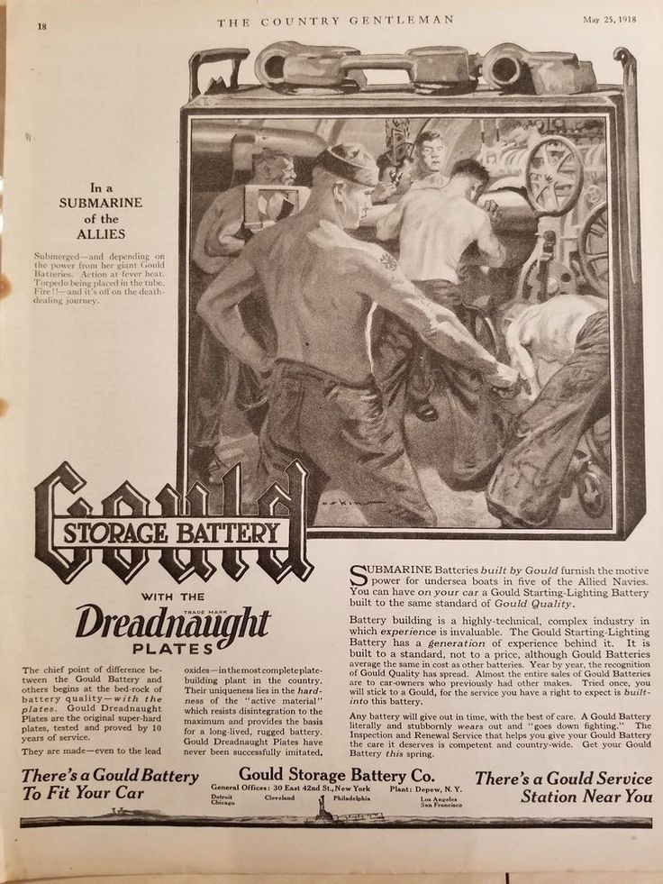 Gould Storage Battery Company 1918-1919 The Country Gentleman 4 print ads