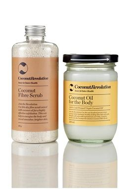 Coconut Revolution - body exfoliator kit