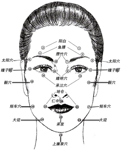 All About Facial Rejuvenation Acupuncture Points Chart Eye Cream