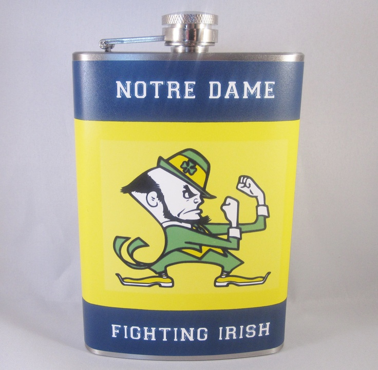 Notre Dame Fighting Irish 8oz Stainless Steel by BrilliantBashes roeser gift