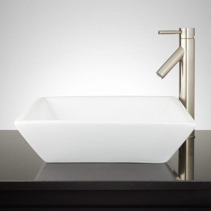 Fireclay Farmhouse Sinks Signature Hardware In 2020 Sink Rectangular Vessel Sink Wall Mounted Bathroom Sinks