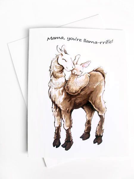 Cute Llama Card, Funny Greeting Card, Mother's Day Card, Father's Day Card, I Love You, New Baby Card,  Blank Note Card, Personalized Card on Etsy, $3.74