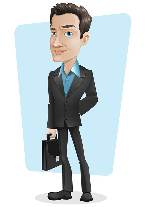 Cartoon Characters In Suits : Suit n breifcase cartoon character for storyboard ideas