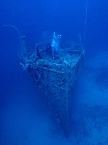 Wreck of the Italian steamer LINA sunk in 1914. near the ...