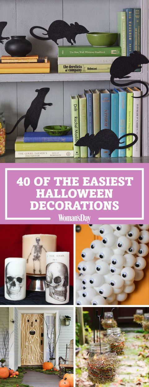 These easy DIY Halloween decorating ideas will make your home the spookiest one on the block. Try a few or try them all for a full-out Halloween themed home.