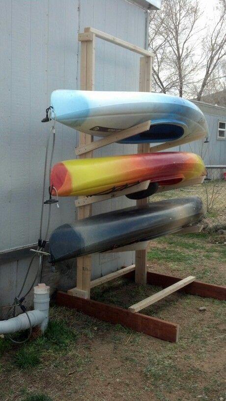 Kayak storage rack!!!!                                                                                                                                                      More