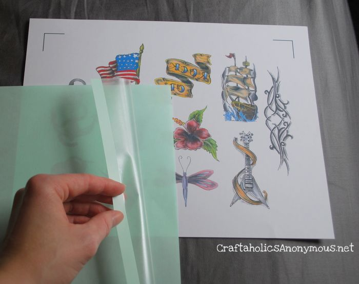 how to make a temporary tattoo with wax paper