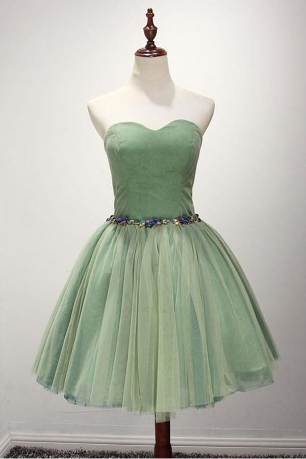 b8ed03d714b Outlet Vogue Green Prom Dress