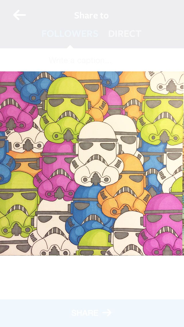 13x13cm Stormtrooper collage with Promarkers