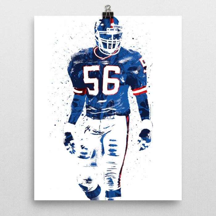 "Lawrence Taylor poster. Nicknamed ""L.T."", is a Hall of Fame former American football player. Taylor played his entire professional career as a linebacker for the New York Giants (1981–1993) in the Nat"