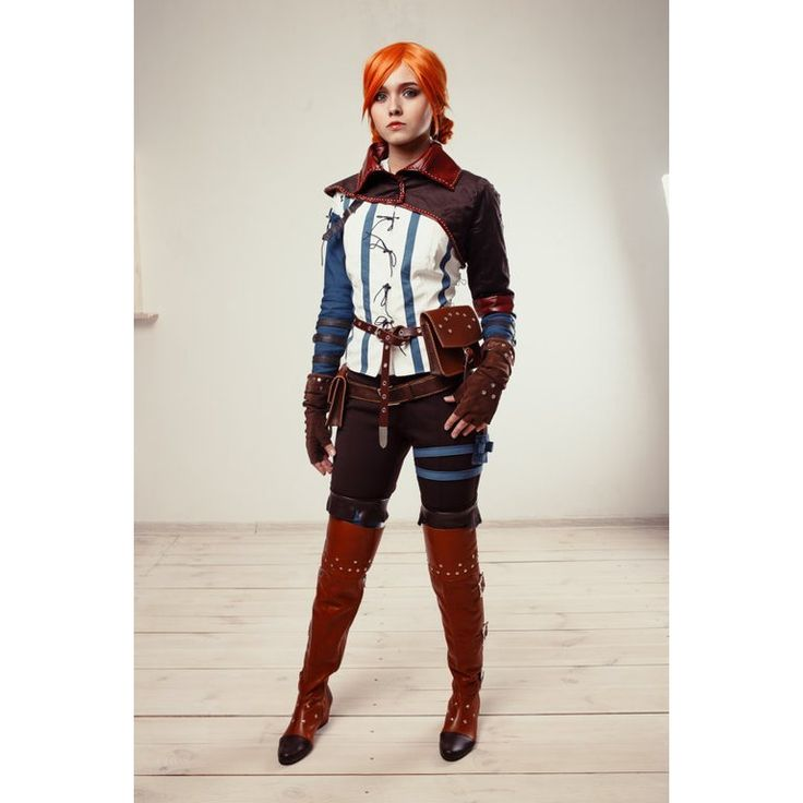 Click if you like The Witcher video games series! Try putting on Triss Merigold cosplay costume and you will become a mysterious sorceress from Andrzej Sapkowskis The Witcher a truly charmer in her own right. The readhead witch from the Witcher 2 is popular among adult fans who are forever charmed by her beauty. Which character costume do you choose for the cosplay party? Tell us in the comments ------------------------------------ included : - Jacket with hood - shirt - pants - blue sleeves…