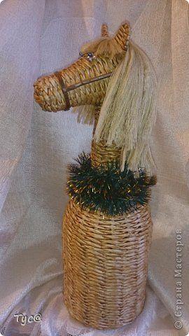 Поделка изделие Новый год Плетение Конь  просто конь  Бумага газетная фото 5