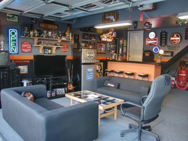 best 25 man cave garage ideas on pinterest mancave. Black Bedroom Furniture Sets. Home Design Ideas