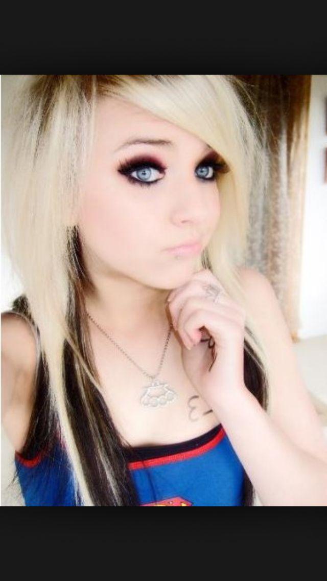 Emo/scene makeup | Emo/Scene eye makeup | Pinterest