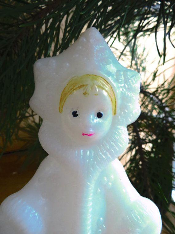 Soviet Snow-Maiden (Snegurochka), Vintage Russian New-Year toys. Russian #Christmas. Soviet Christmas. Russian Santa. Soviet plastic doll. #USSR #Soviet #Russian #vintage